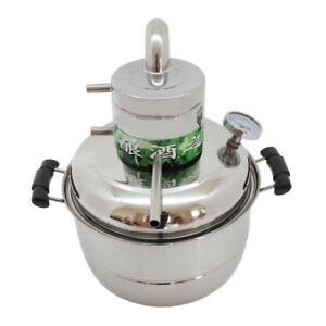 10L-Destillieranlage-Schnapsbrennen-Destille-Alkohol-Atherischer-Ole-Wasser