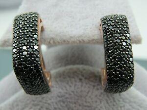 Turkish-Handmade-Jewelry-925-Sterling-Silver-Onyx-Stone-Ladies-039-Earrings