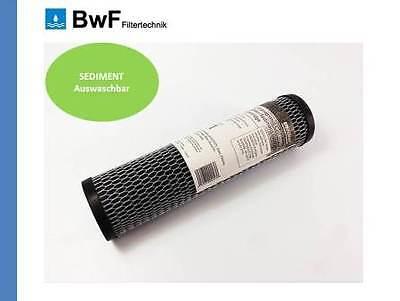 """BwF 1"""" ZOLL Wasserfilter Filtergehäuse 10"""" Osmose Filteranlage inkl. KARTUSCHE"""