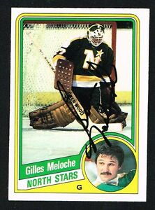 Gilles Meloche #104 signed autograph auto 1984-85 O-Pee-Chee Hockey Card