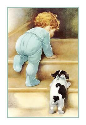 Bessie Pease Gutmann's Nitey Nite Peter and Jake Counted Cross Stitch Chart