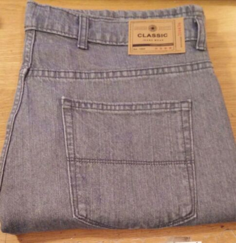 EX M/&S COLLECTION MENS REGULAR FIT STRETCH JEANS GREY size 32 to 48