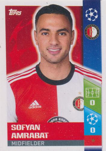 Sticker 412-Sofyan Amrabat-FEYENOORD Ligue des Champions 17//18