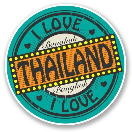 2 x Bangkok Thailand Vinyl Sticker Laptop Travel Luggage Car #5592