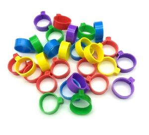 10-25-50-or-100-Poultry-Clip-Leg-Rings-8mm-Chicken-Hatching-Pigeon-Pheasant-Bird