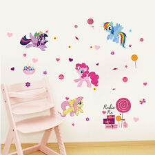 My Little Pony Pinky Pie Rainbow Dash Wall Sticker Decals Kids Girls Decor  Mural