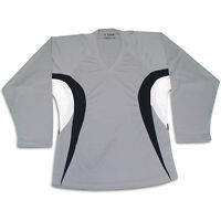 Dj200 Gray Hockey Jersey With Name And Number Grey/black/white