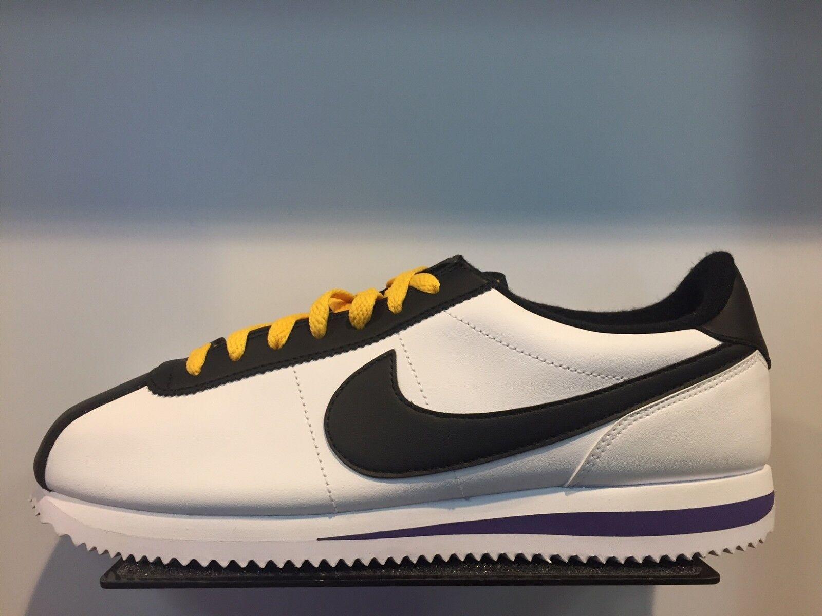 Nike Cortez blancoo Negro Amarillo campo púrpura de de de cuero Talla 8-13 Nuevo Ds 973ff8