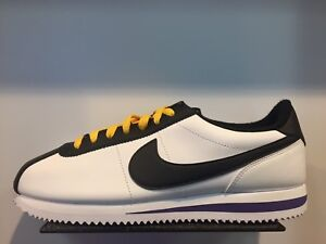 Nike Cortez White Black Amarillo Field Purple Leather Sz 8-13 New DS ... fdb20a404