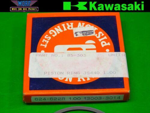 0.50MM OVERBORE 624-621R NEW SUDCO 79-92 KAWASAKI JS440 PISTON RING SET