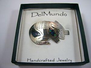 Vintage Pin Button Armadillo Del Mundo Handcrafted