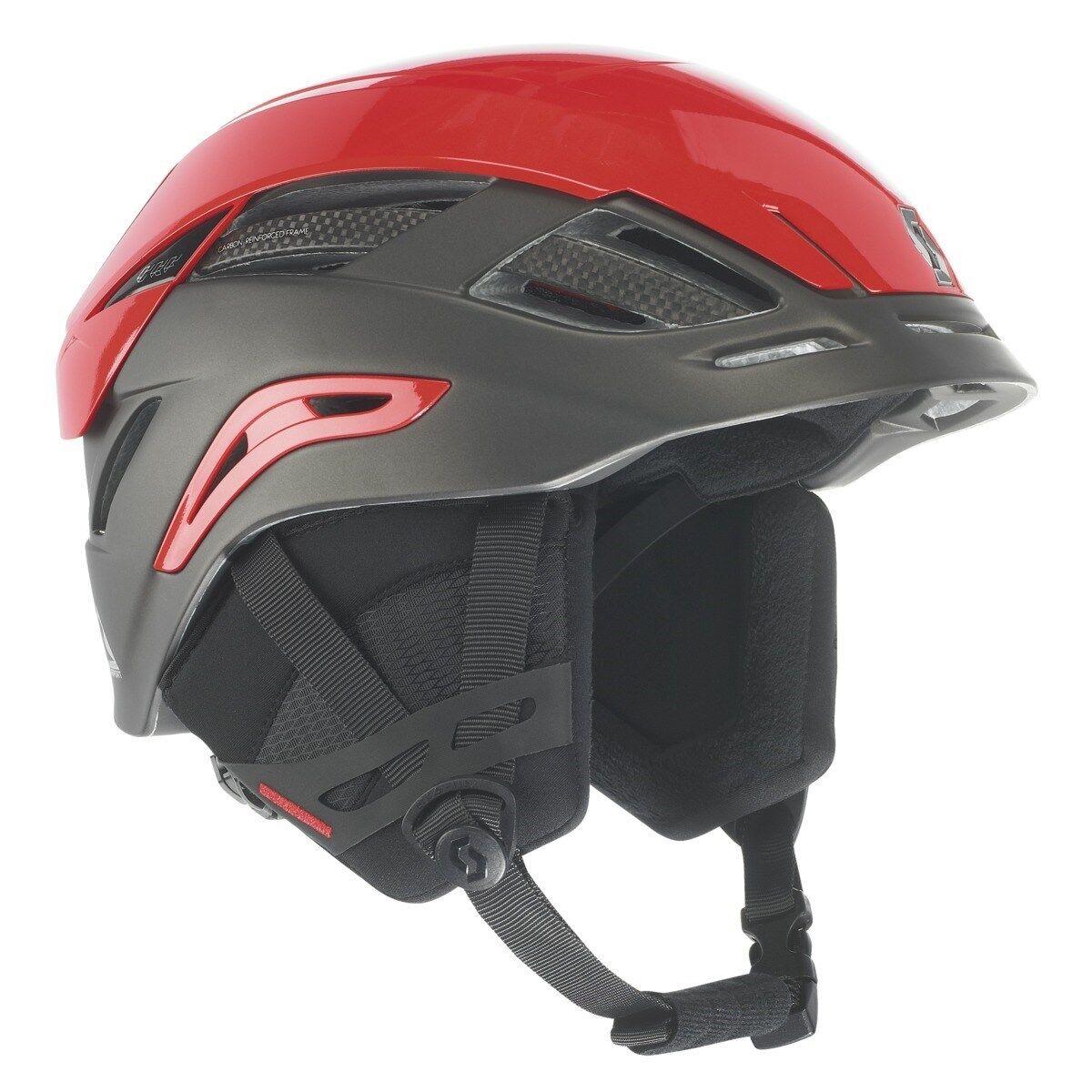 Scott Couloir Helmet Dark grau   Matte rot Large 59.5 - 61.5 cm