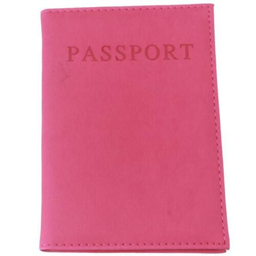 Travel Faux Leather Passport Organizer Holder Card Case Protector Cover Wallet G