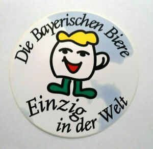 Promotional Stickers Die Bavarian Beers Only IN the World Brewery Bavaria Wheat