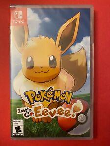 NEW-amp-Sealed-Pokemon-Let-039-s-Go-Eevee-for-Nintendo-Switch-US-Version-2018