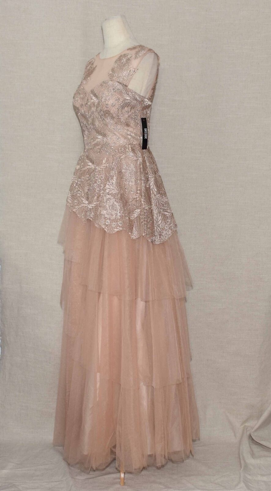 Decode 1.8 Lace Ball Gown  300 NWT ModCloth ModCloth ModCloth Awakening Of elegance Sz 12 Beige b5a8ee