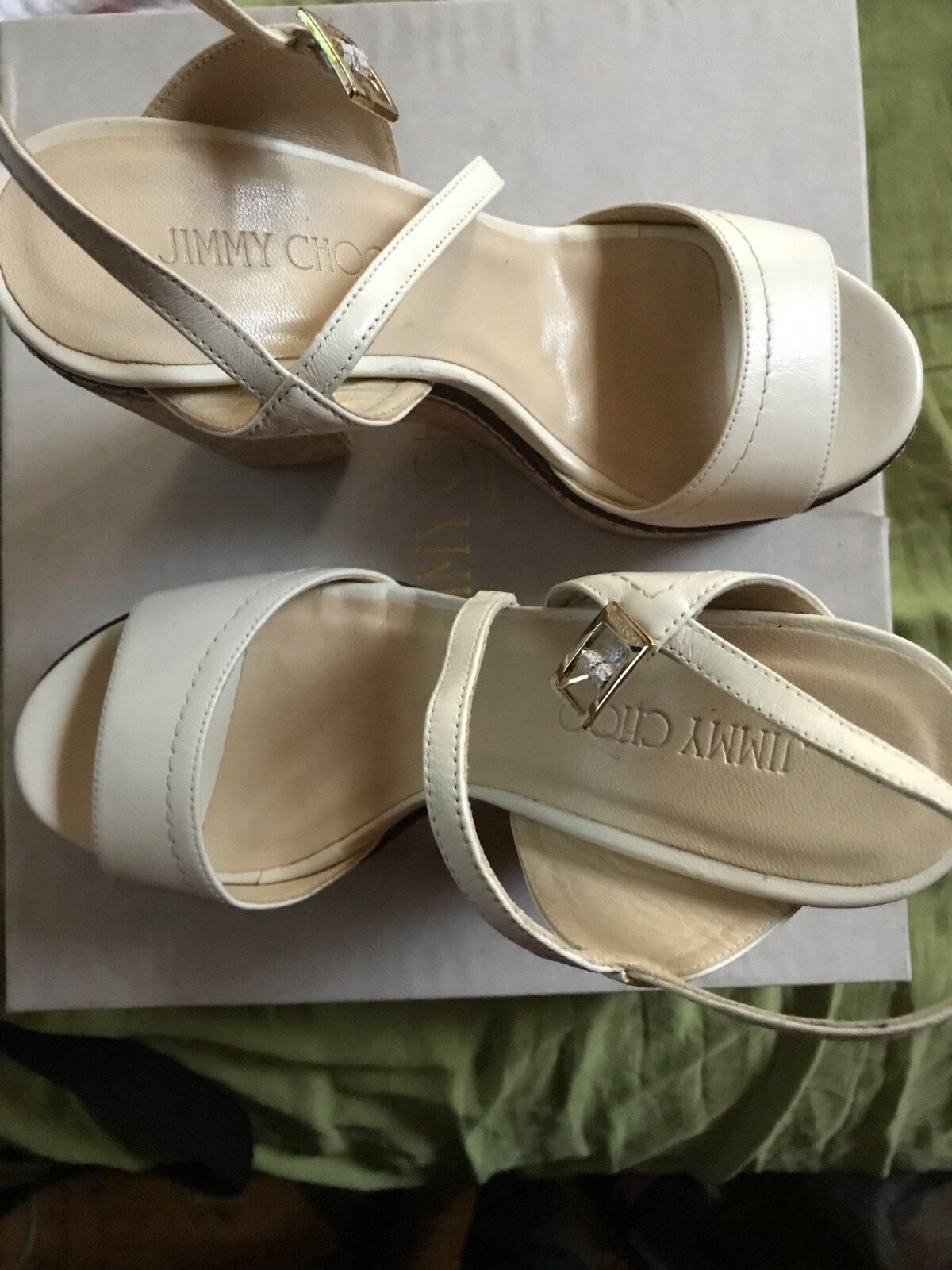 Jimmy choo 39.5 new  White color   wedges