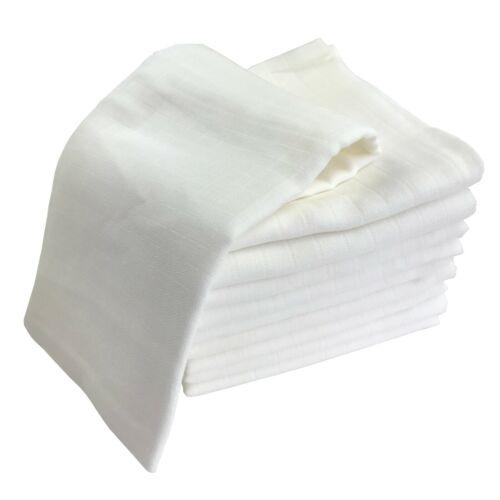 10xMullwindeln Reststoffe ungenäht Spucktücher Mulltücher 60x60cm ÖKO-TEX Muslin