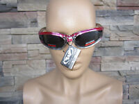 Pink Smoke Sunglasses Womens Motorcycle Padded Glasses Comes With Carry Pouch