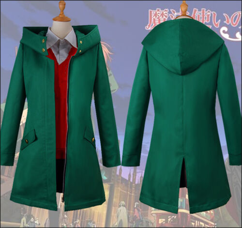 Chise Hatori The Ancient Magus/' Bride Anime Cosplay Costume Skirt Coat Wig Party
