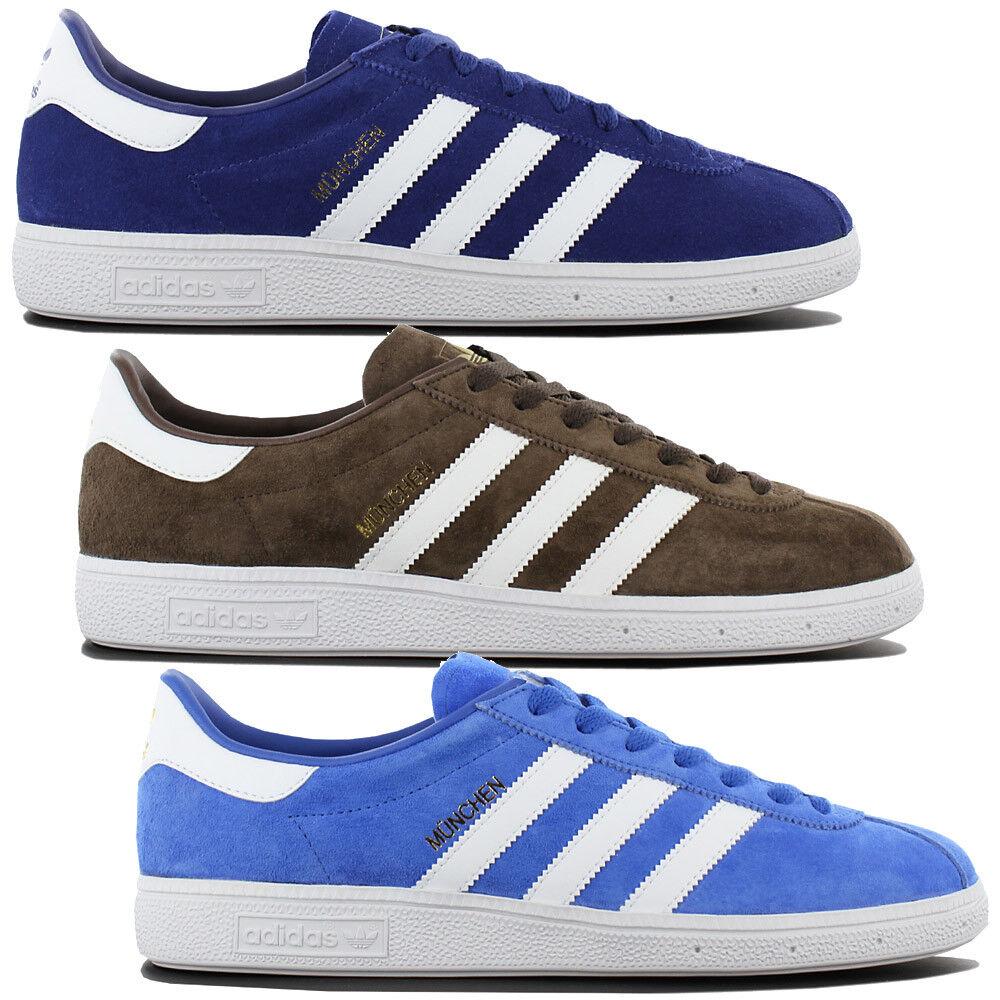 Adidas Originals munich calcetines cortos Zapatos Cuero retro zapatillas de deporte ocio