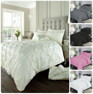 bed cover sets. Pintuck-Duvet-Cover-Set-with-Pillowcase-Diamond-AIford- Bed Cover Sets S