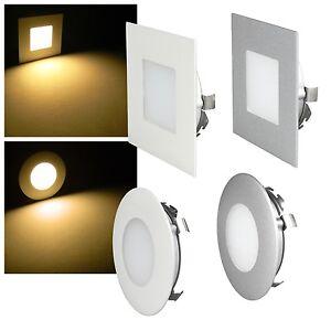 led wandeinbaustrahler 230v f r up dose stufenlicht. Black Bedroom Furniture Sets. Home Design Ideas