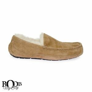 UGG-ASCOT-CHESTNUT-SHEEPSKIN-MEN-039-S-MOCCASIN-SLIPPERS-SIZE-US-11-UK-10-EU-44-5