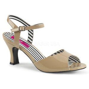 Label Beige Pink Pleaser Sandaletten Jenna 09 UqRwE