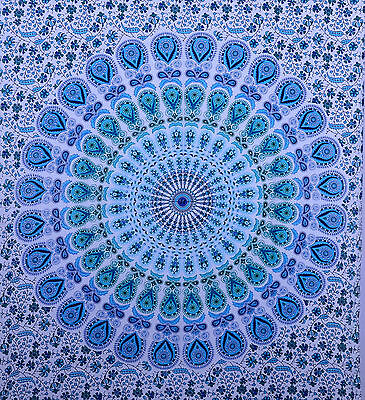 Indian Hippie Mandala Wall Hanging Twin Tapestry Throw Ethnic Bedspread Decor