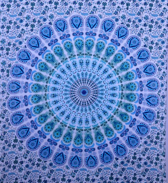 Indian Hippie Mandala Wall Hanging Tapestry Throw Ethnic Bedspread Decor Art