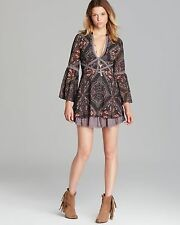 NWOT $148 Free People Moonlight Bay Paisley Print Dress 6 ASO Teen Wolf Rare