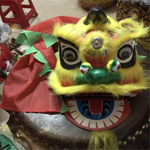 Toys Lion Mascot Dance Costume Wool Southern Lion Chinese Folk Art For Children