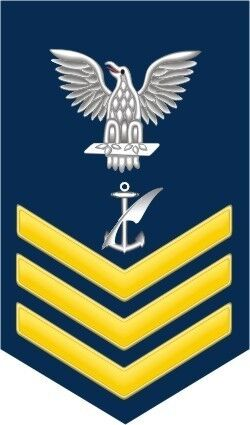 Navy Counselor NC 1st Class E-6 Gold 5.5 Rank Sticker / Decal