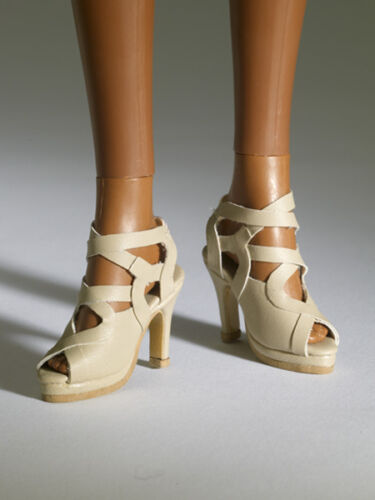 New Tonner Nu Mood Beige Sandal High Heel 1 Doll Shoes 2012 fit Wentworth Body