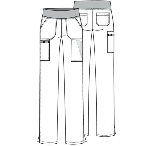 Dickies Scrubs Natural Rise Tapered Leg Pull On Petite Pant DK005P ESP Espresso