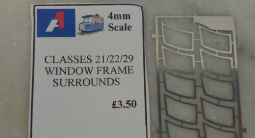 Class 21//22//29  Window Frame Surrounds 4mm Scale Detailing Parts