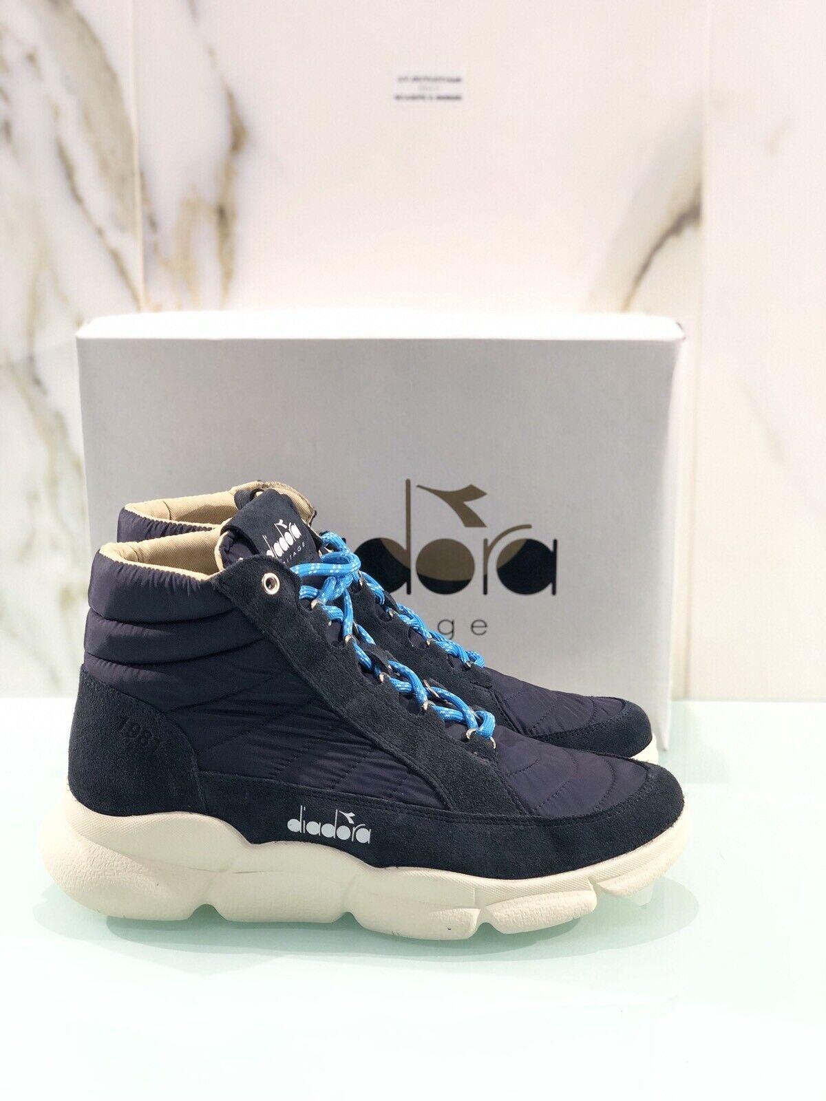 Diadora Heritage Boot H In Camoacio bluee Background Vibram Casual Sneaker Man