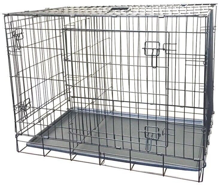 KennelMaster 42'x28'x30' Double Door Folding Metal Dog Crate
