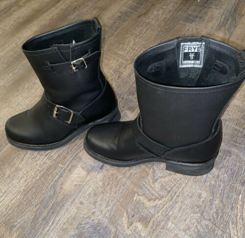 Frye Womens Black Engineer Boot Size 6