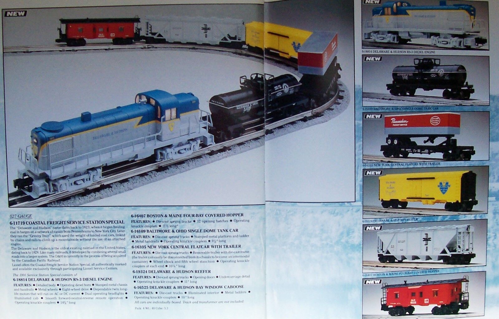 LIONEL D&H COASTAL SSS SET  NEW