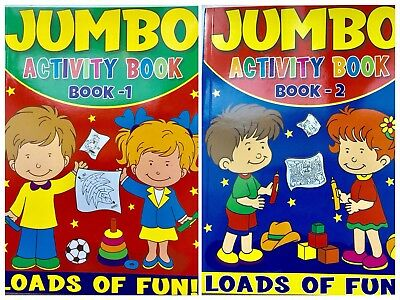 Romantisch 2 X A4 Jumbo Puzzle Activity Book Fun Game & Puzzle Book Gift