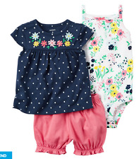 Carter's 3-Piece Bubble Short Set Navy Blue 9M
