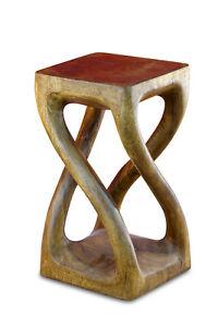 Beistelltisch Akazie Holz Tisch Wohnzimmertisch Sofatisch Nachttisch