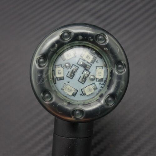 4X Black Plastic LED Amber Lamp Bullet Rear Turn Signal Brake lights Indicators