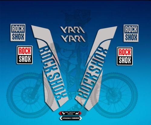 ADESIVI FORCELLA STICKERS FORK ROCKSHOX YARI AM39 AUFKLEBER DECALS ADESIVI