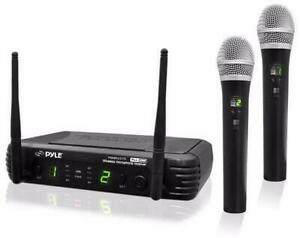 PylePro PDWM3375 Premier Series 8-Channel UHF Wireless Dual Handheld Microphone Selectable Frequencies Canada Preview