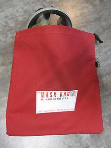 S.M. Smith Co. SCBA Mask Bag, MB2-201, 10 OZ Cotton Canvas W/ Fleece liner,Draw.