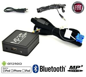 Interface-Bluetooth-MP3-AUX-pour-FIAT-Punto-Bravo-Panda-500-Stilo-Idea-Multipla