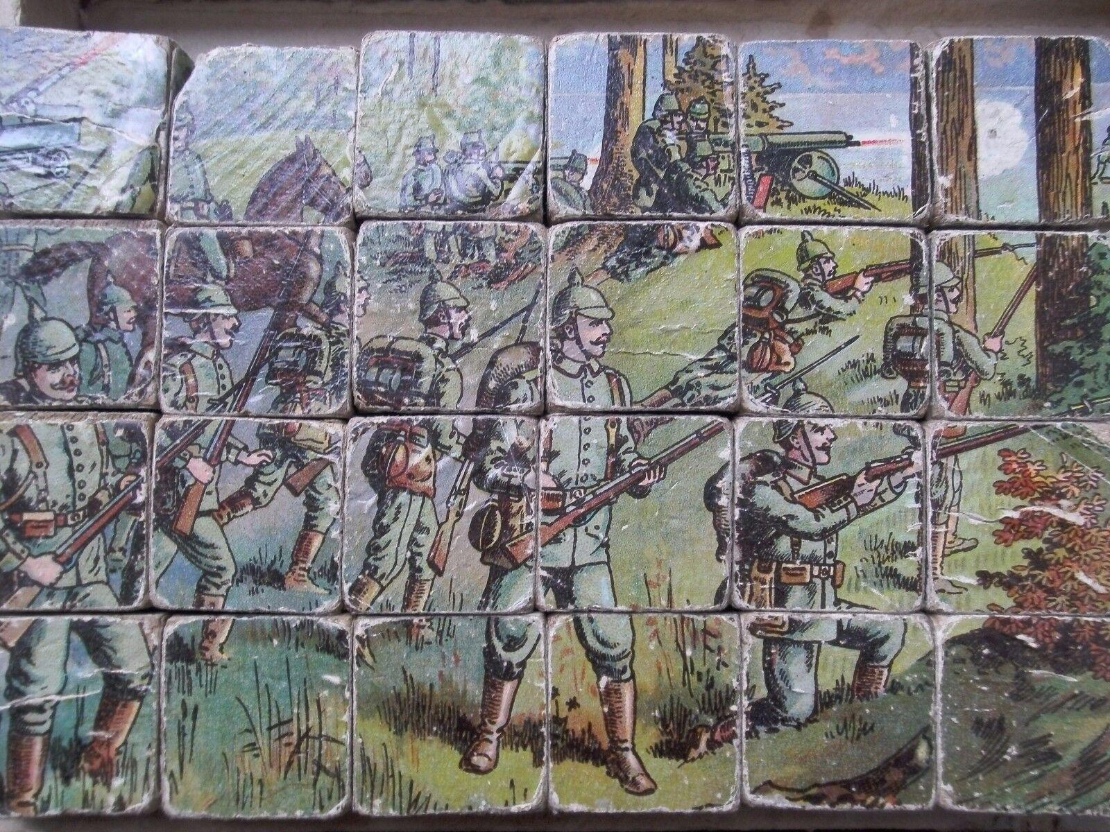 Duitse blokkendoos hout  puzzel WO1 militaria speelgoed Duits blokken  meilleure qualité meilleur prix